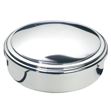 Pewter Domed Jewelry Box