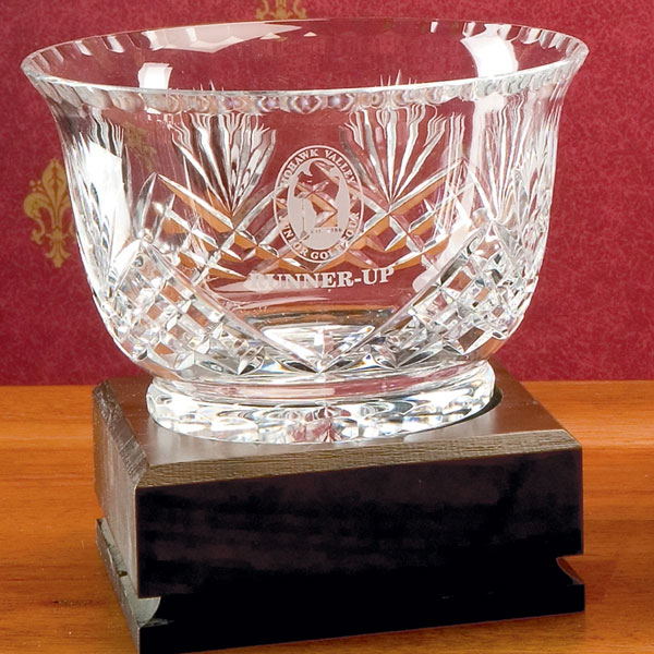 Hand-Cut Crystal Footed Revere Bowl