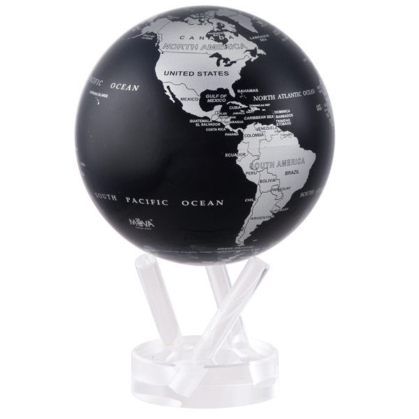 Mova Globes Silver and Black Metallic