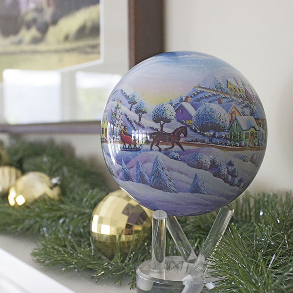 Mova Globe Home for the Holidays