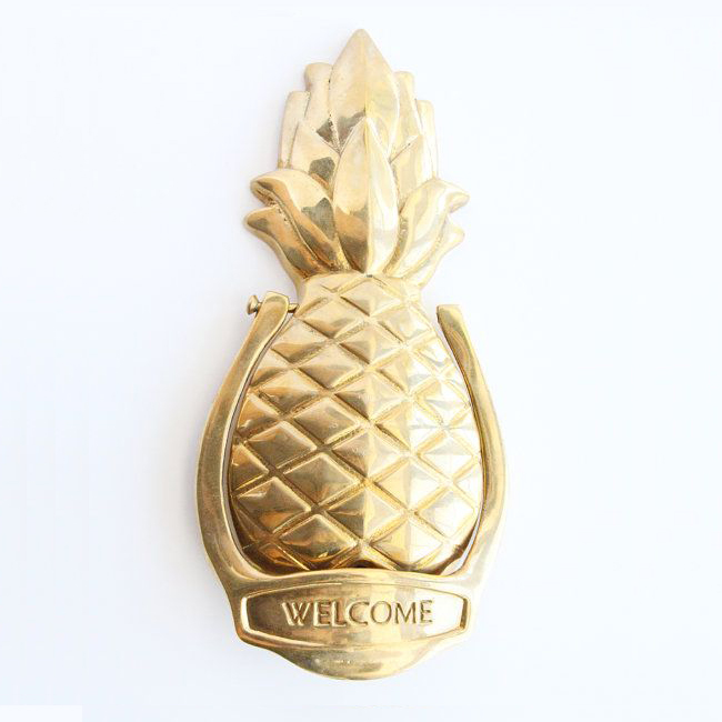 Personalized Brass Pineapple Door Knocker