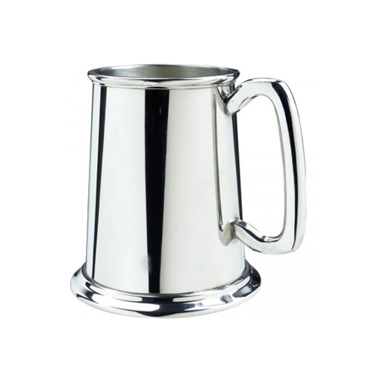 Glass Bottom Pewter Tankard