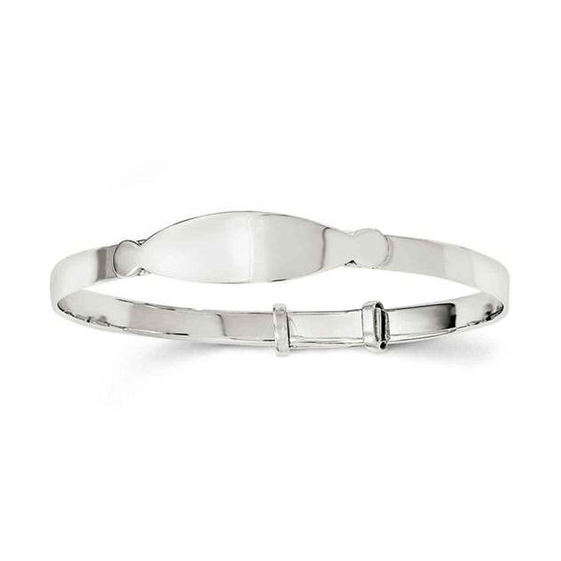 Toddler Sterling ID Bangle Bracelet